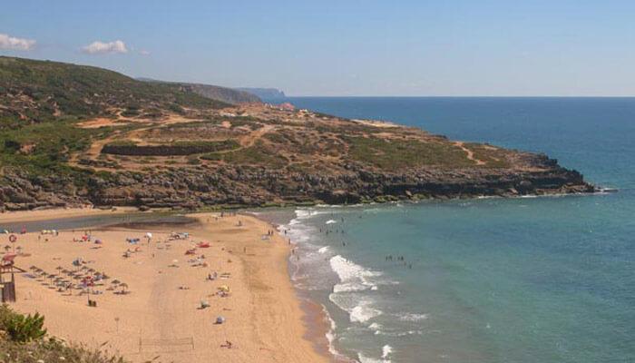 Foz do Lizandro beach in Ericeira, Portugal