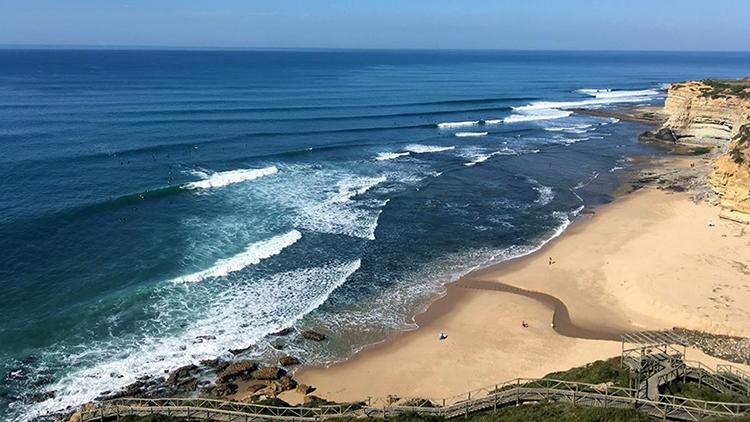 Ribeira D'Ilhas beach at Ericeira