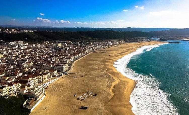 Nazaré beach town